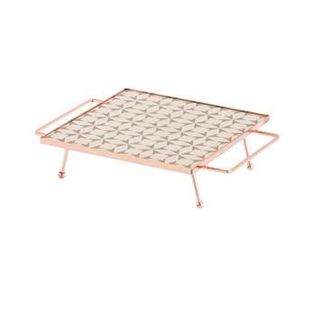 GAN - Mix&Match Tablett quadratisch 20x20cm - grau/26x20x6,5H cm/mit Füßen