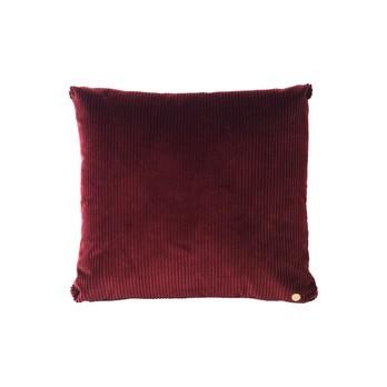 ferm LIVING - ferm LIVING Corduroy Kissen 45x45cm - burgund/45x45cm/mit Reißverschluss und Füllung
