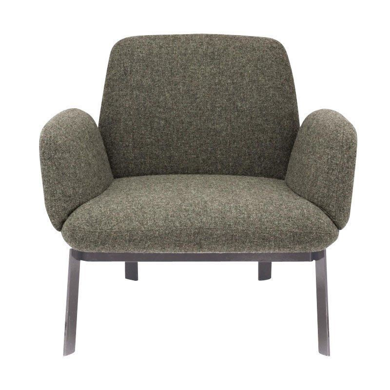 Elished Sons Easy Armchair Brown Grey Fabric