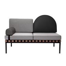Petite Friture - Grid 2-Sitzer Sofa Gestell Nussbaum