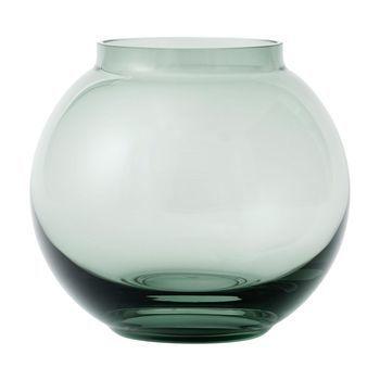 Lyngby Porcelæn - Form 70/3 Vase - copenhagen grün/mundgeblasenes Glas/H14cm