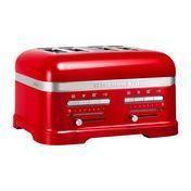 KitchenAid - Artisan 5KMT4205E Toaster 4 Scheiben - empire rot/Metall/2500 Watt/inkl. 1 Sandwichzange