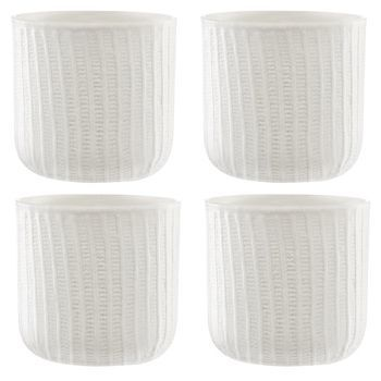 Normann - Mormor Ribbed 4 Cup - white/4 pieces