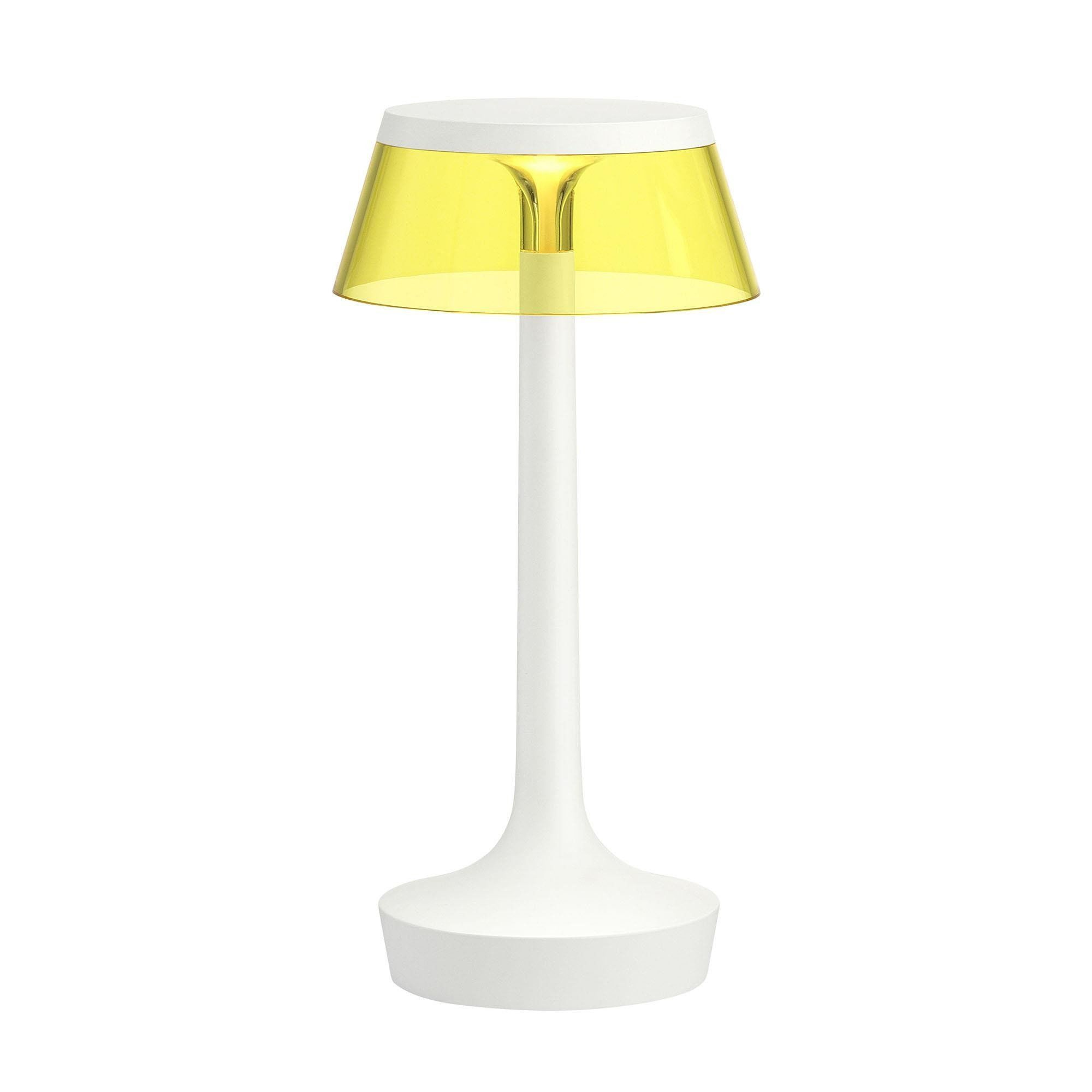 Flos   Bon Jour Unplugged LED Table Lamp White   Yellow/transparent/shade: