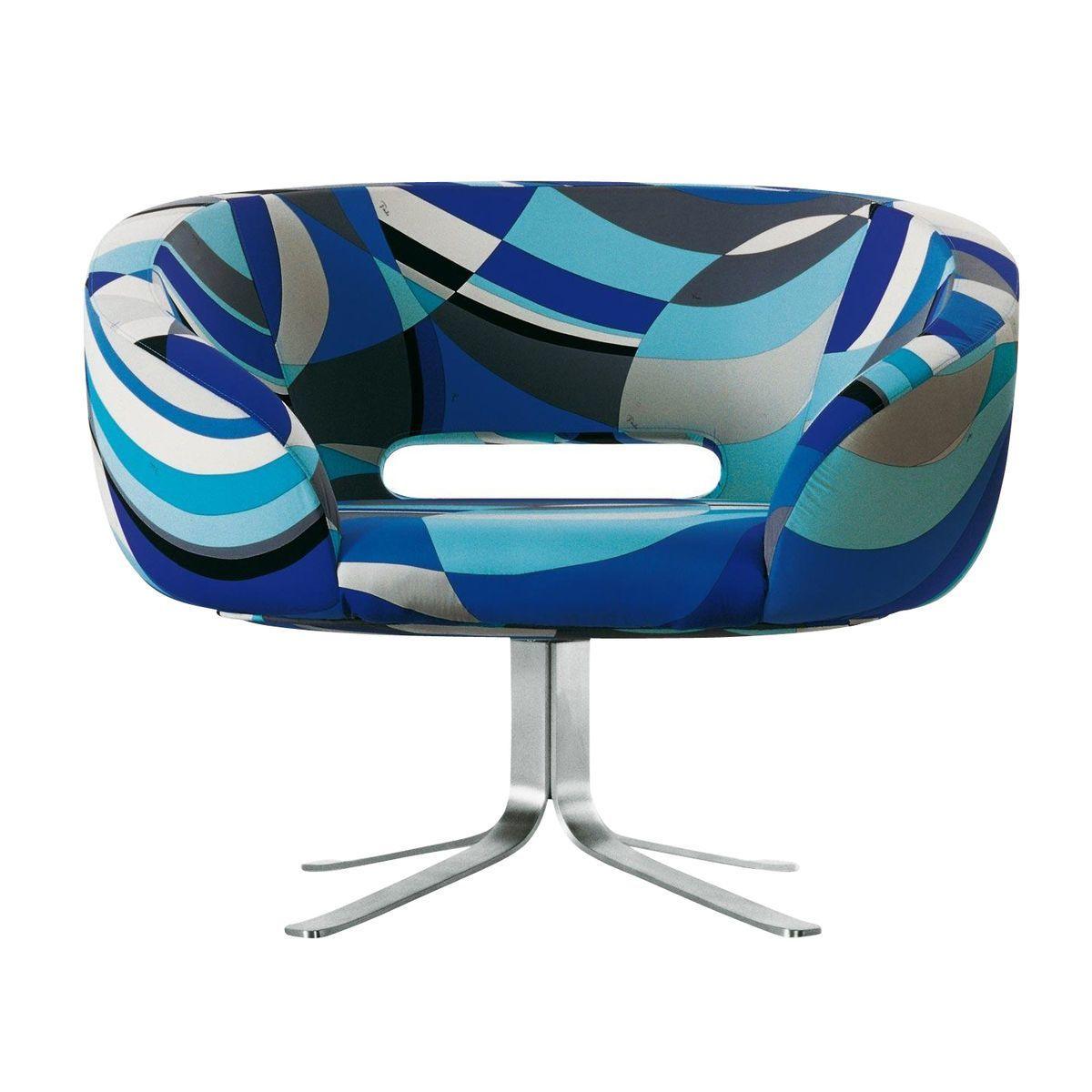 Delightful Cappellini   Rive Droite Armchair   Blue/100% Cotton Pucci L02