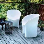 Moroso - Moon Sessel - weiß/transparent/RAL 9002
