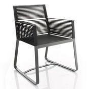 Kettal - Landscape Dining Armchair / Garden Chair - black/frame manganese black