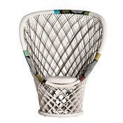 Driade - Pavo Real Outdoor Armchair - white/with seat cushion