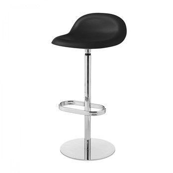 Gubi - Gubi 3D Counter Stool Barhocker mit Drehgestell - mitternachtsschwarz/Sitzfläche HiRek Kunststoff/BxHxT 40x81x42cm/Gestell Chrom