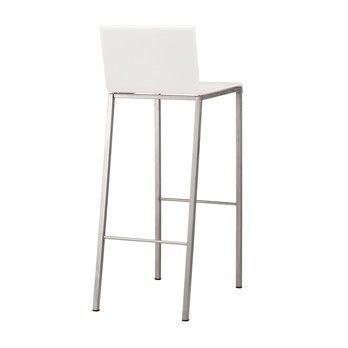 - Bianco Barhocker matt 80cm - opalin weiß/matt/Gestell Edelstahl