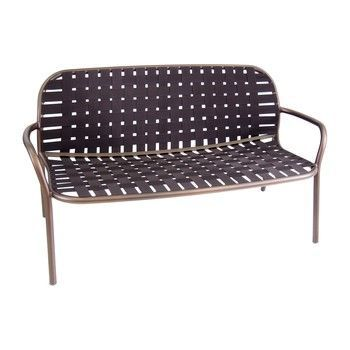 emu - Yard 2-Sitzer-Sofa - braun/Gestell braun/LxBxH 139x84x77cm