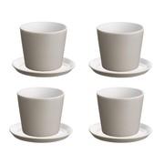 Alessi - Tonale Set Mocha Mug with Saucer Set of 4
