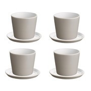 Alessi - Tonale 4 Mocha Mugs and 4 Saucers