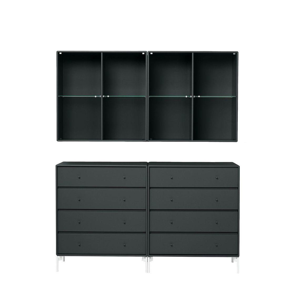 portray kommode mit wandschrank montana. Black Bedroom Furniture Sets. Home Design Ideas