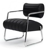 ClassiCon - Bonaparte Sessel - schwarz/Leder Classic/Sitzhöhe: 45cm