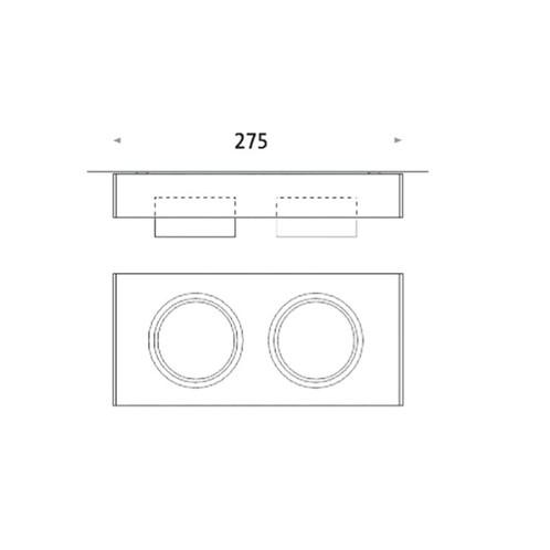 Mawa Design - Wittenberg wi-ab-125-2e 2er-Strahler - Strichzeichnung