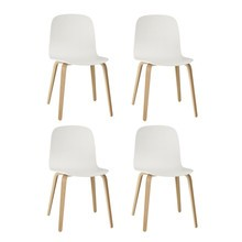 Muuto - Visu Chair With Wood Frame Set Of 4