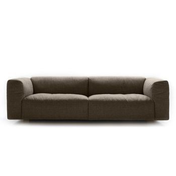 MDF Italia - Mate 2012 3S Sofa  - dunkelbraun/Stoff Kat. B Gin 392
