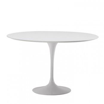 Knoll International - Saarinen Tisch Ø120cm - weiß/Laminat/Gestell weiß