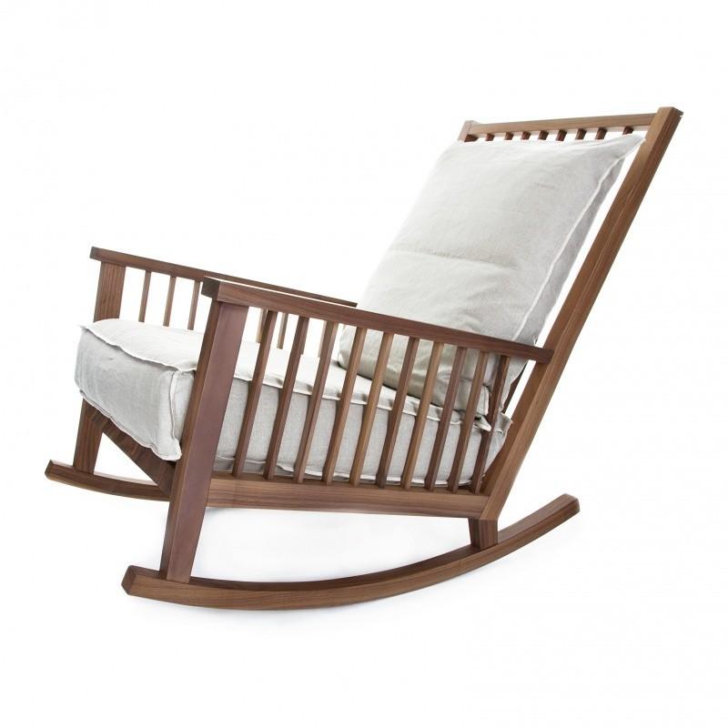Gervasoni gray 09 rocking chair ambientedirect - Gervasoni schaukelstuhl ...