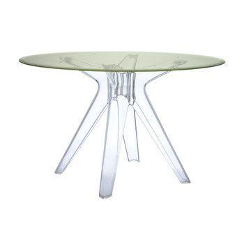 Kartell - Sir Gio Tisch Rund - gelb/Tischbeine transparent/H 72cm/Ø 120cm