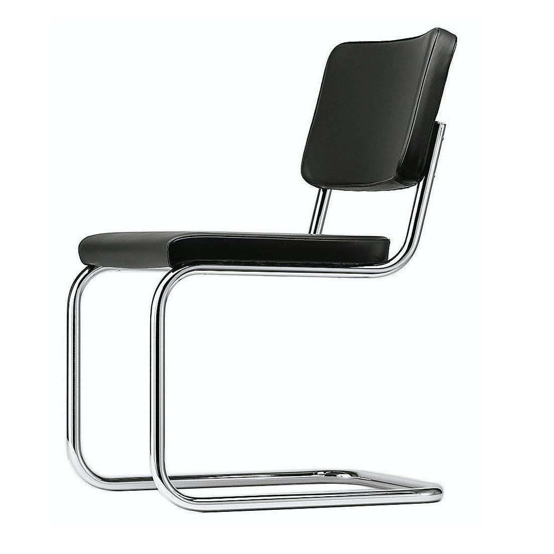 ... Thonet   S 32 Cantilever Chair   Black 622/leather/frame Chrome ...