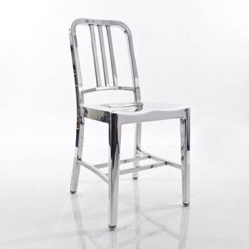 EMECO - Navy Stuhl - aluminium/poliert