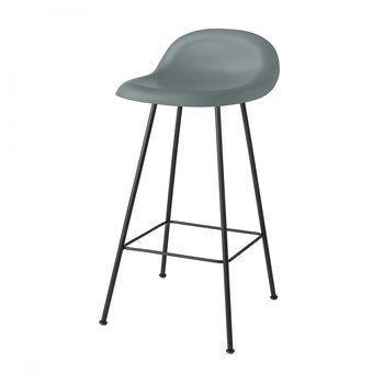 Gubi - Gubi 3D Counter Stool Barhocker - regengrau/Sitzfläche HiRek Kunststoff/BxHxT 42x78x43cm/Gestell schwarz