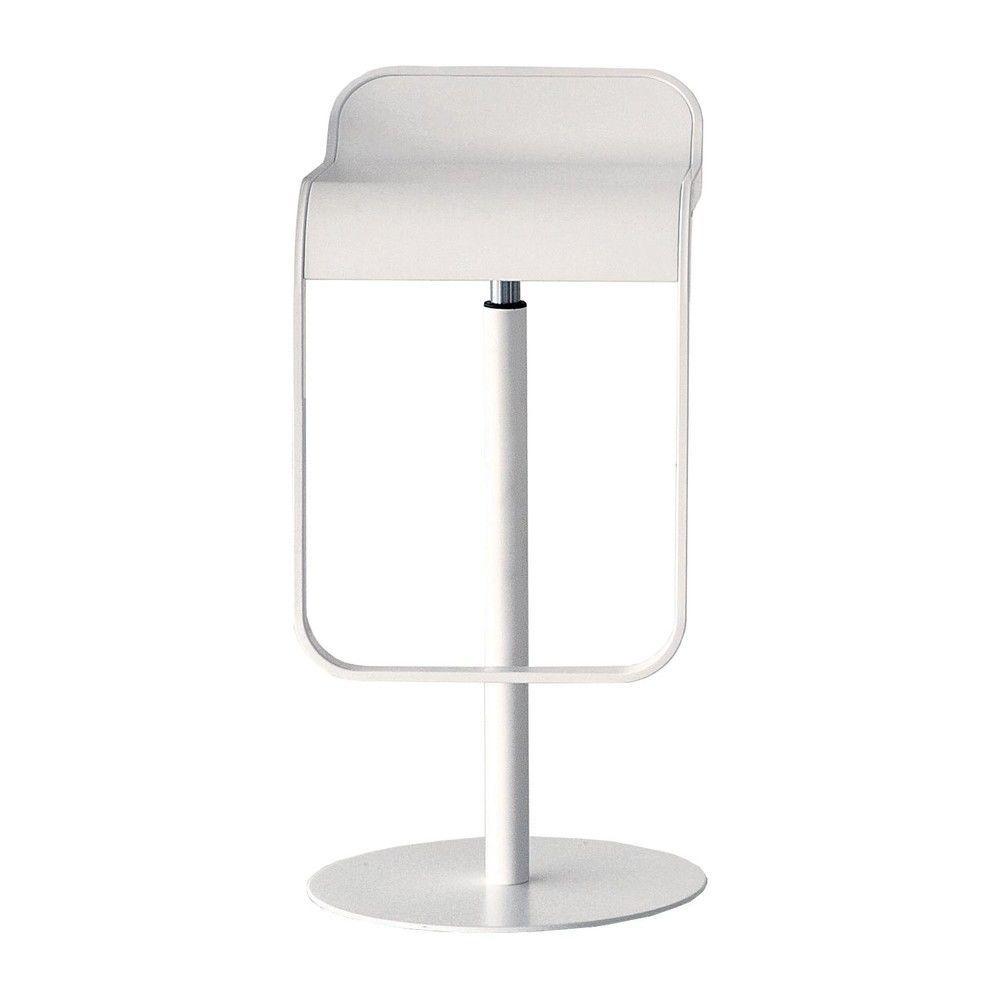 la palma - Lem 66-79 Bar Stool Frame White - white/laminate Fenix