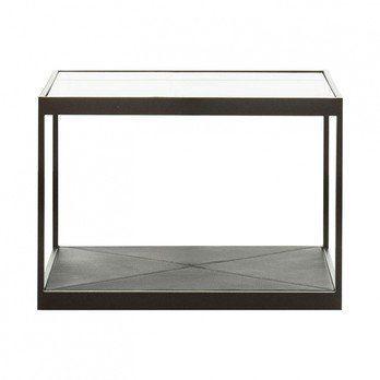 Röshults - Monaco Beistelltisch 50x50 - schwarz/Glastop/L x B x H: 50 x 50 x 35cm