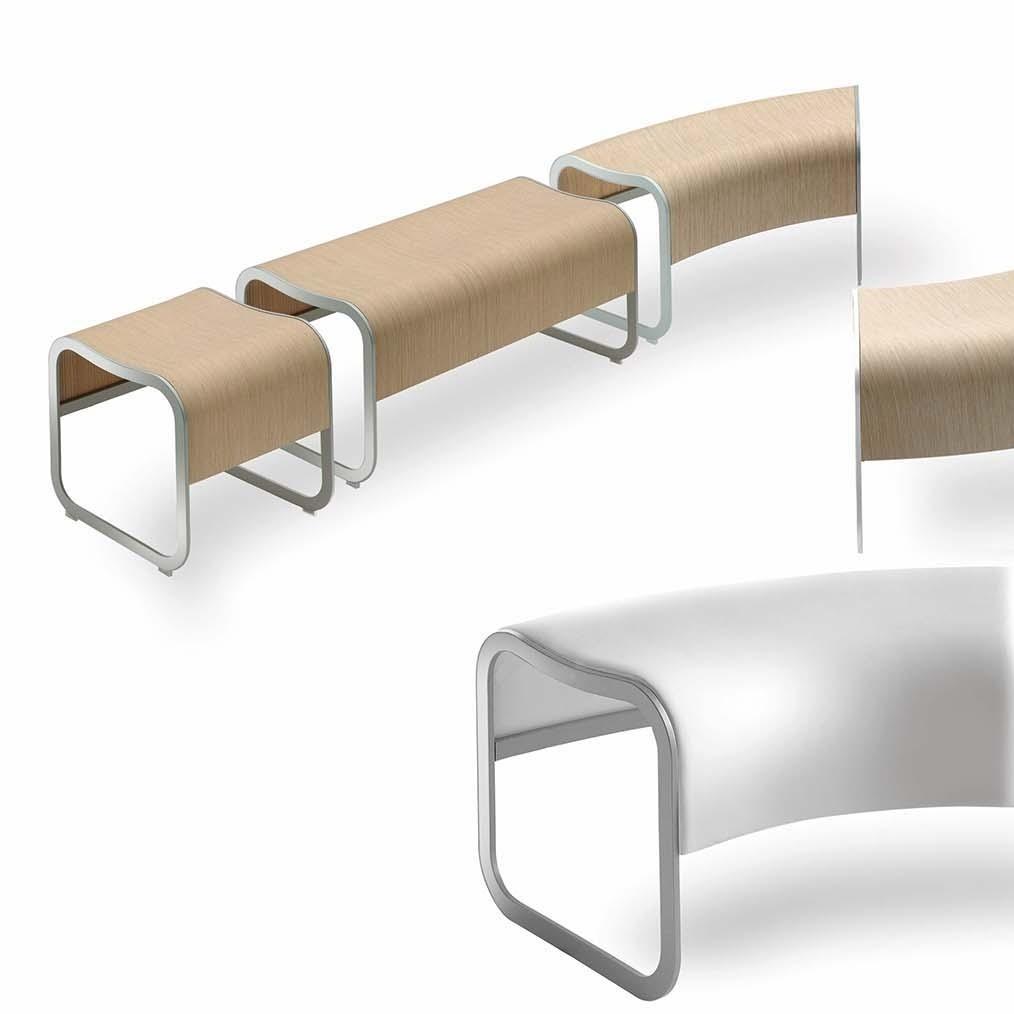 la palma Za-2 Bench Stacklable Frame Aluminium   AmbienteDirect