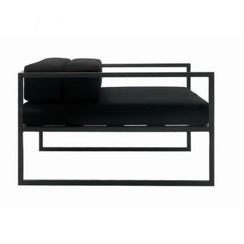 Cappellini - Fronzoni '64 Sessel - anthrazit/Gestell matt anthrazit/abziehbarer Bezug/100x100x62cm