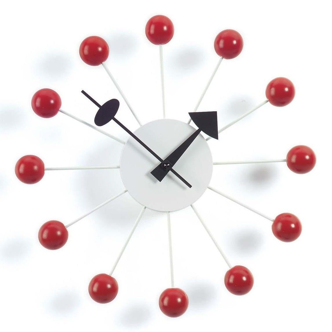 ball clock nelson  vitra  ambientedirectcom - vitra  ball clock nelson  redhands blackwoodØcm