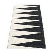 pappelina - Vivi Teppich 70x150cm - schwarz/vanille