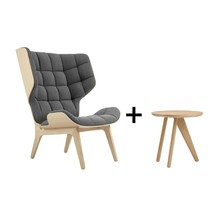 NORR 11 - Fauteuil mammoth + table d'appoint fin Spécial