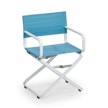 Weishäupl - Ahoi Regiestuhl - wasserblau/DOLAN® ISO/Gestell weiß/H x B x T: 85 x 57 x 55cm