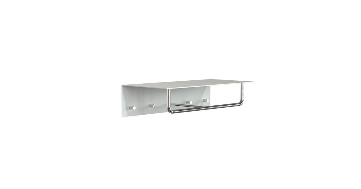 Grey Wall Coat Hanger Marcuscable Com, Fyfield Coat Rack With Shelf Storage Baskets White