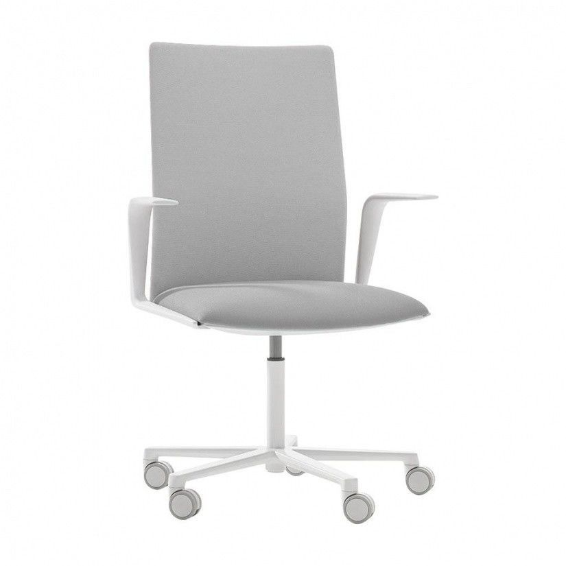 Kinesit 4825 Office Chair With Armrests   grey fabric Cava 3 124 seatKinesit 4825 Office Chair With Armrests   Arper   AmbienteDirect com. Grey Fabric Office Chair. Home Design Ideas