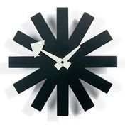 Vitra - Asterisk Clock Nelson Wanduhr - schwarz/weiß/Metall/Ø25cm