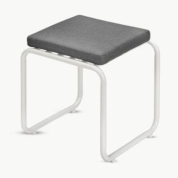 - Fuori Sitzkissen für Hocker  - aschgrau/Stoff Barriere® Panama/LxBxH 40x40x5cm/ohne Hocker