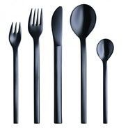 mono - Mono-A Black Edition Cutlery Set of 5 - black
