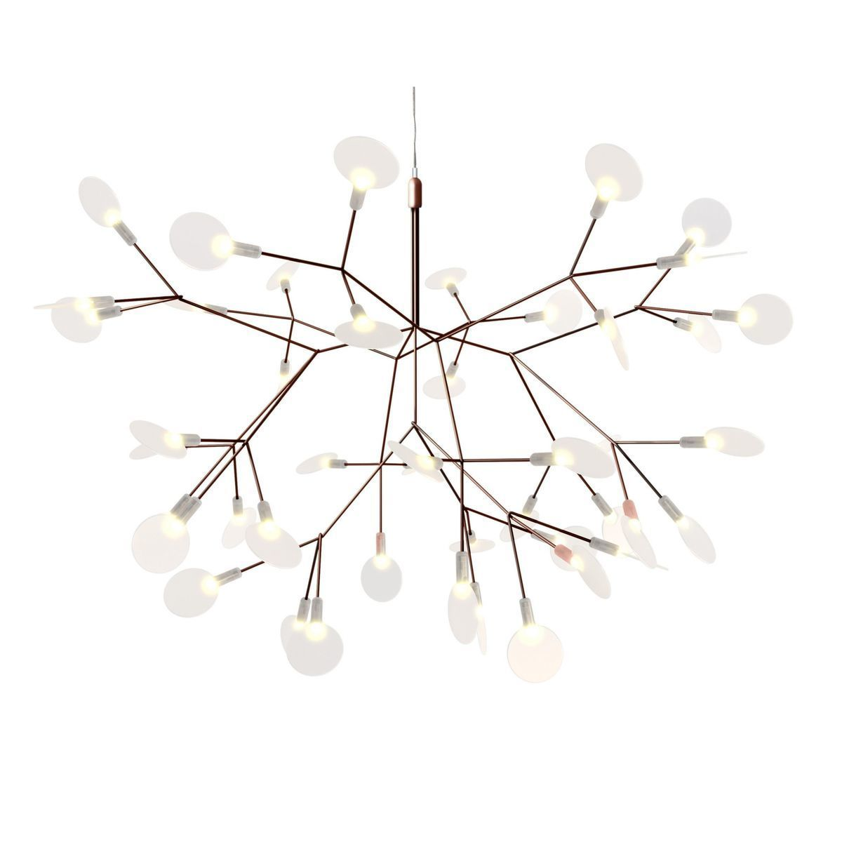 Pipe 3 led suspension lamp decor walther ambientedirect com - Moooi Heracleum Small Lustre Suspension Lamp Cm Ambiente Direct
