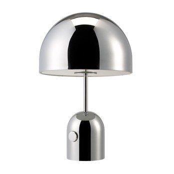 Tom Dixon - Bell Tischleuchte - spiegel-chrom/glänzend/mit Dimmer/Kabel schwarz/H 44cm/Ø 28cm