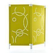 Hey-Sign - Paravent Stamp room divider - light green/felt/2 elements/extendible