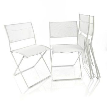 Fermob - Plein Air Stuhl 4er Set - baumwoll weiß/4 Stück