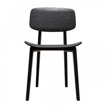 NORR 11 - NY11 New York Dining Chair Stuhl - schwarz/schwarz gebeizt/H x B x T: 78 x 47 x 50.5cm
