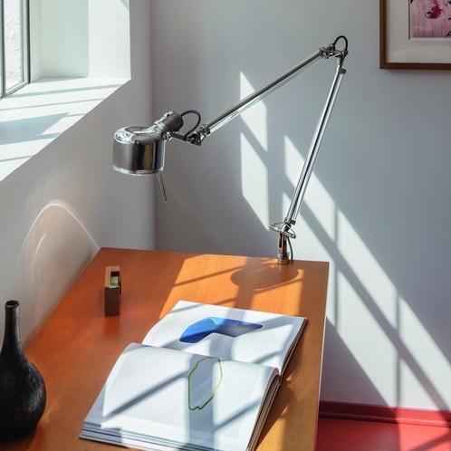 Serien - Job Schreibtischleuchte - edelstahl/poliert/mit Tischklemme/1320lm