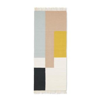ferm LIVING - Kelim Squares Teppich 180x70cm