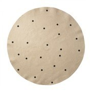 ferm LIVING - Jute Black Dots Carpet large