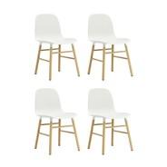 Normann Copenhagen - Form Stuhl Gestell Eiche 4er-Set